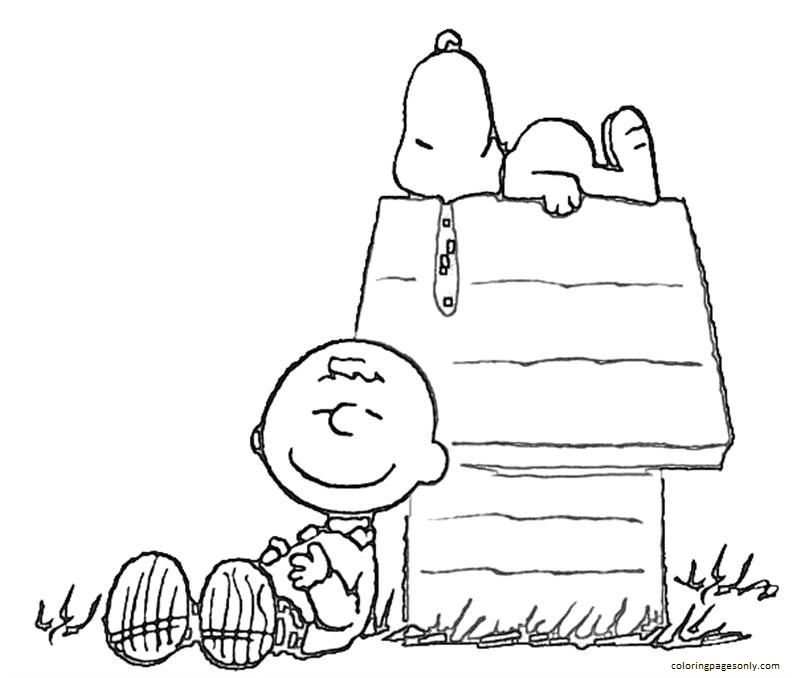Snoopy Charlie Brown 1 Coloring Page