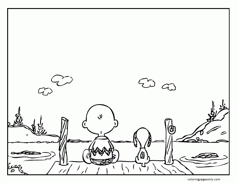 Snoopy Charlie Brown Pictures Coloring Page
