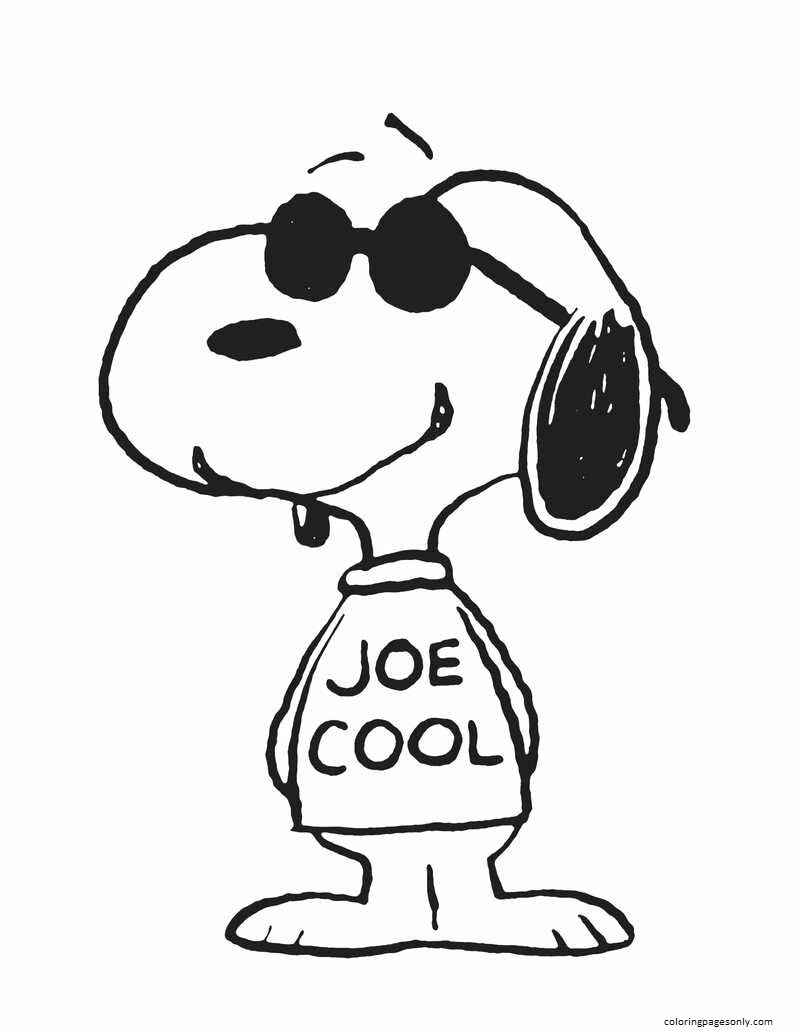 Snoopy Cool Coloring Page