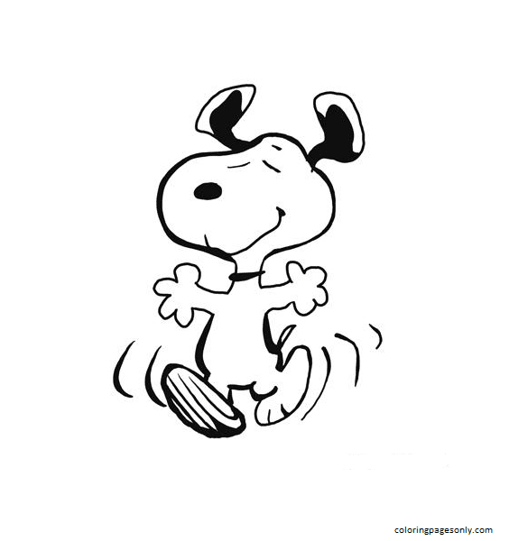 Snoopy Cute Coloring Page
