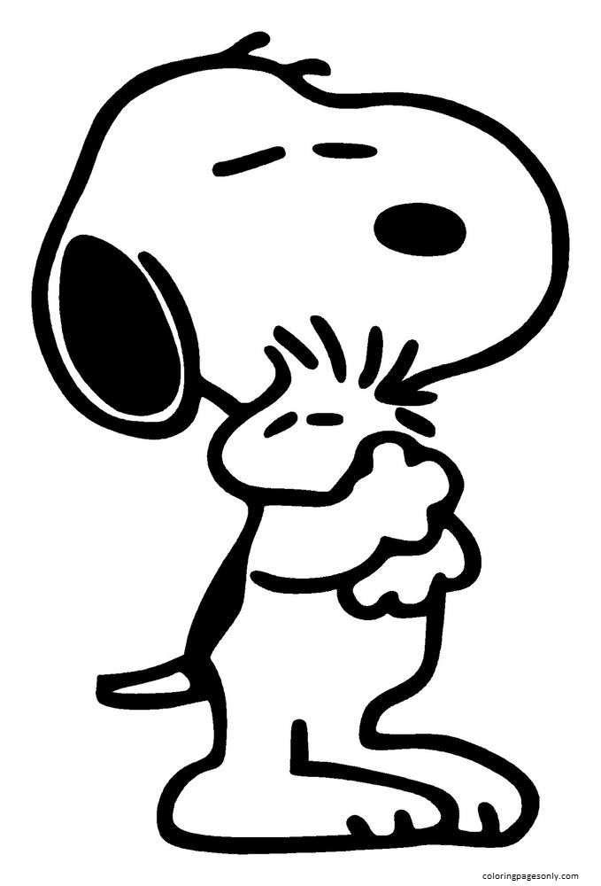 Snoopy Decal Coloring Page