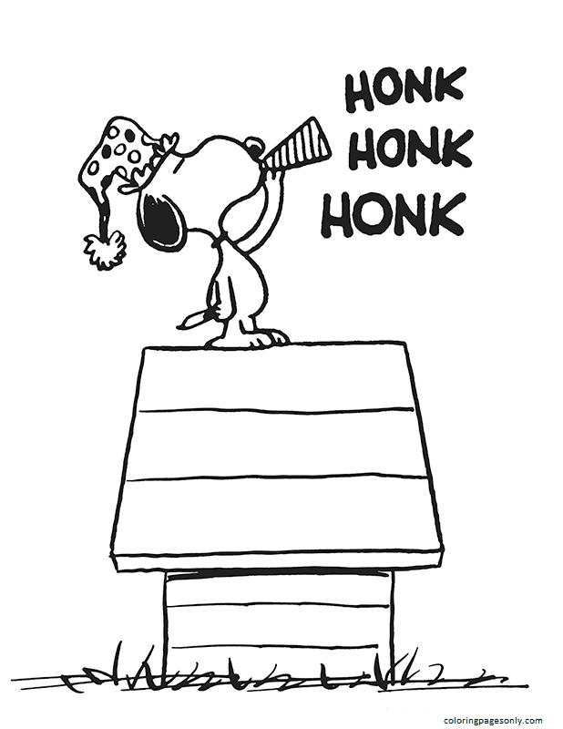 Snoopy Hom Coloring Page