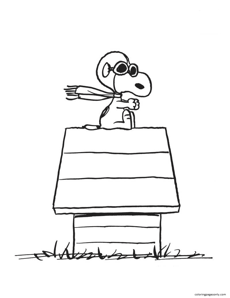 Snoopy Home Coloring Page