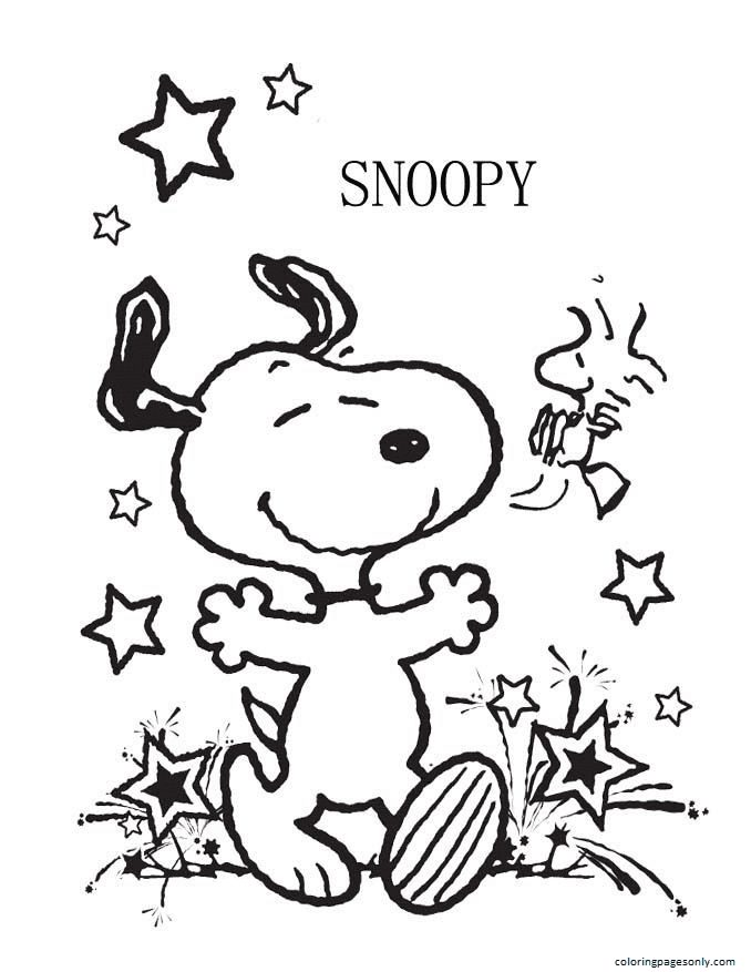 Snoopy Image Coloring Page
