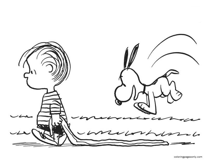 Snoopy Pictures 1 Coloring Page