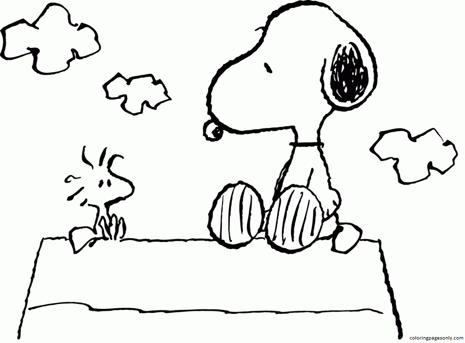 Snoopy Pictures 3 Coloring Page