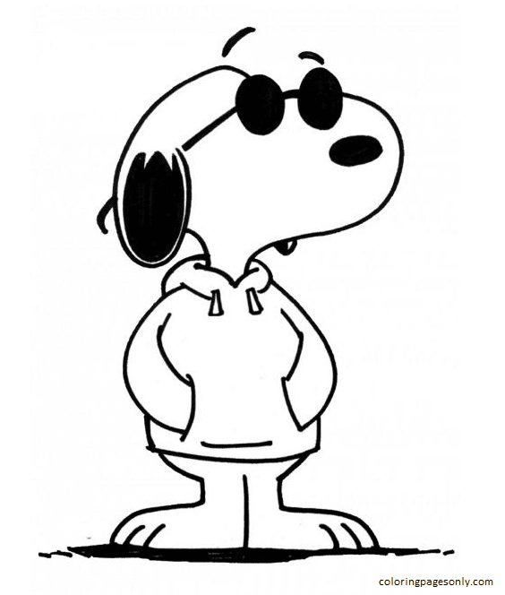 Snoopy Sheet 1 Coloring Page