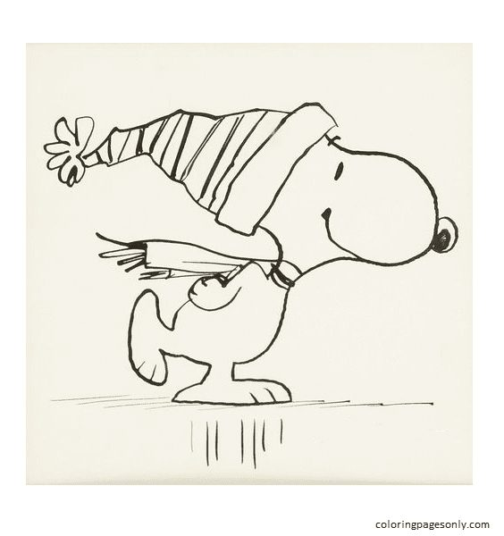 Snoopy Sheet 2 Coloring Page