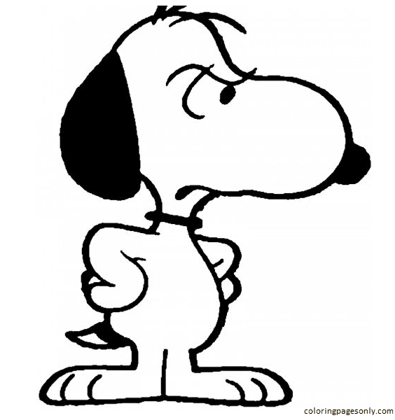 Snoopy Snoopy 1 Coloring Page