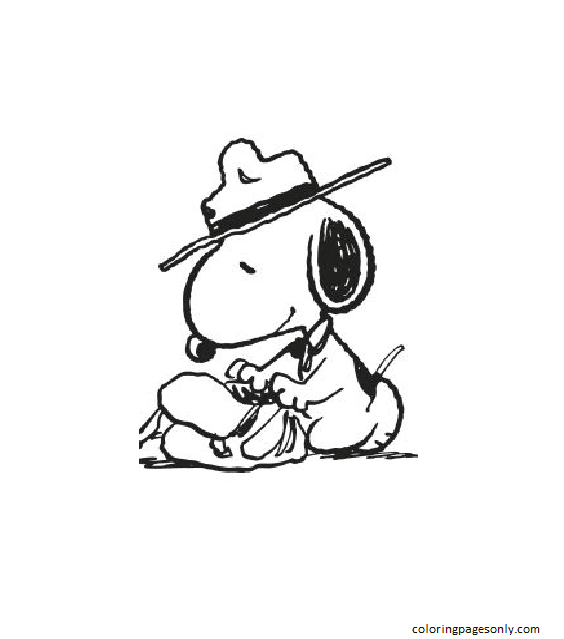 Snoopy Snoopy 2 Coloring Page