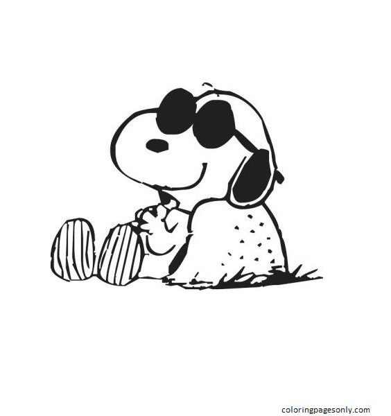 Snoopy Snoopy Coloring Page