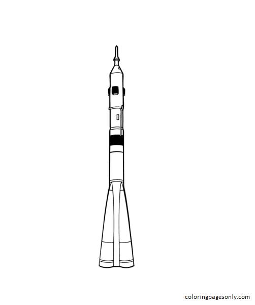 Soyuz Rocket Launcher Coloring Page
