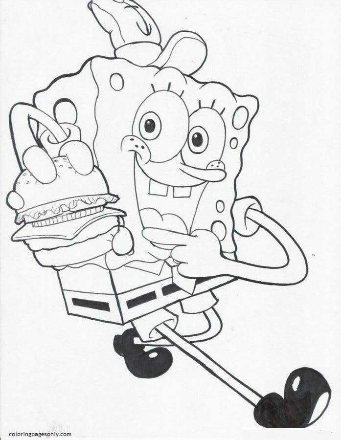 Spongebob 12 Coloring Page