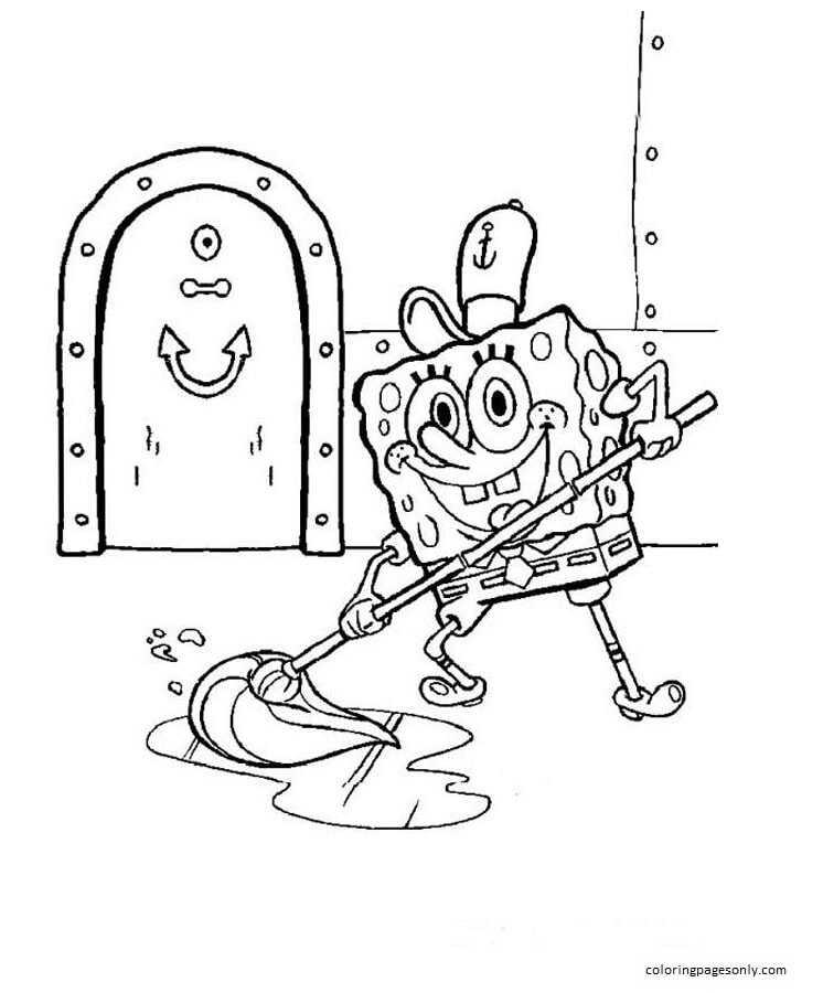 Spongebob 6 Coloring Page