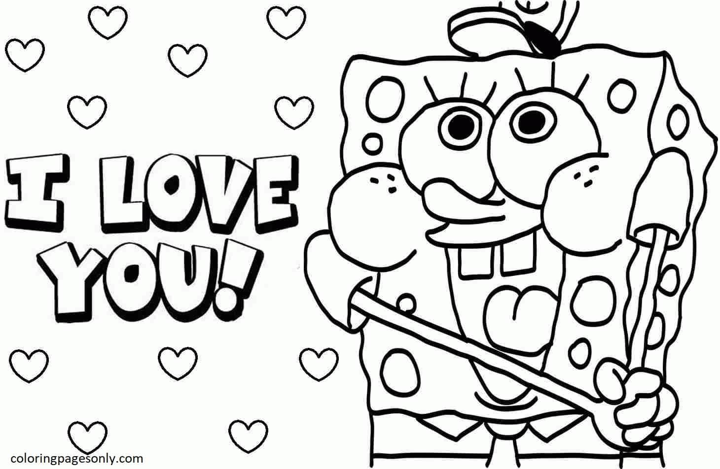 Spongebob 8 Coloring Page