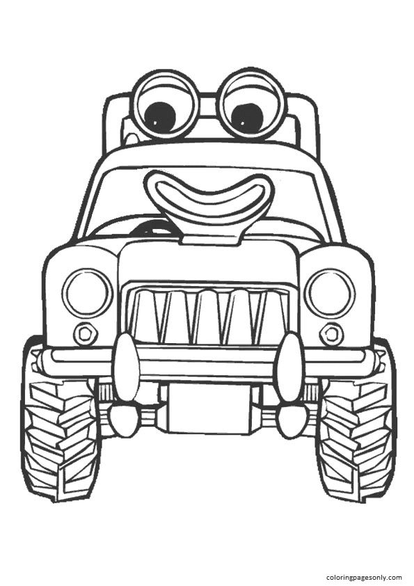 The Cute Piggy DrivesThe Tractor Coloring Page