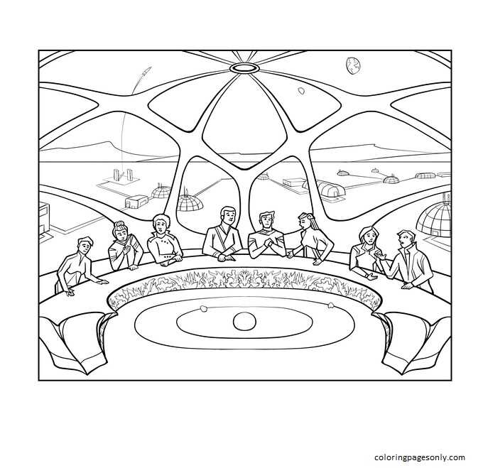 The Illuminated Tweets of Elon Musk 1 Coloring Page