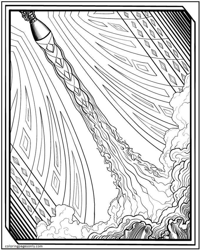The Illuminated Tweets of Elon Musk Coloring Page