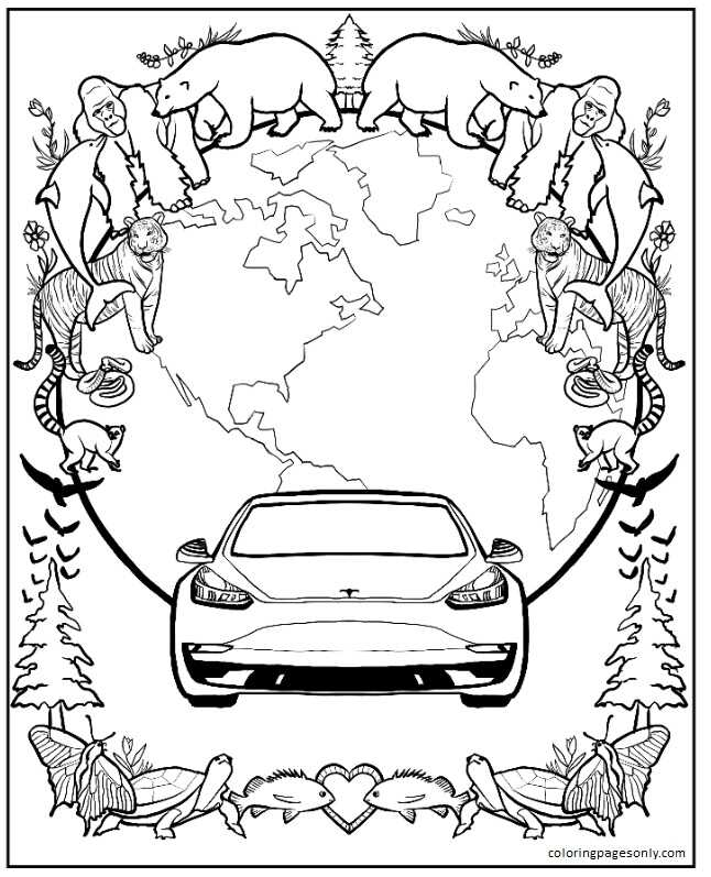 The Insanity & Inspiration Of Elon Musk Coloring Page