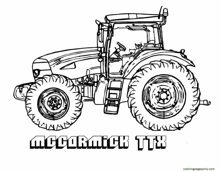 The monster tractor Coloring Page