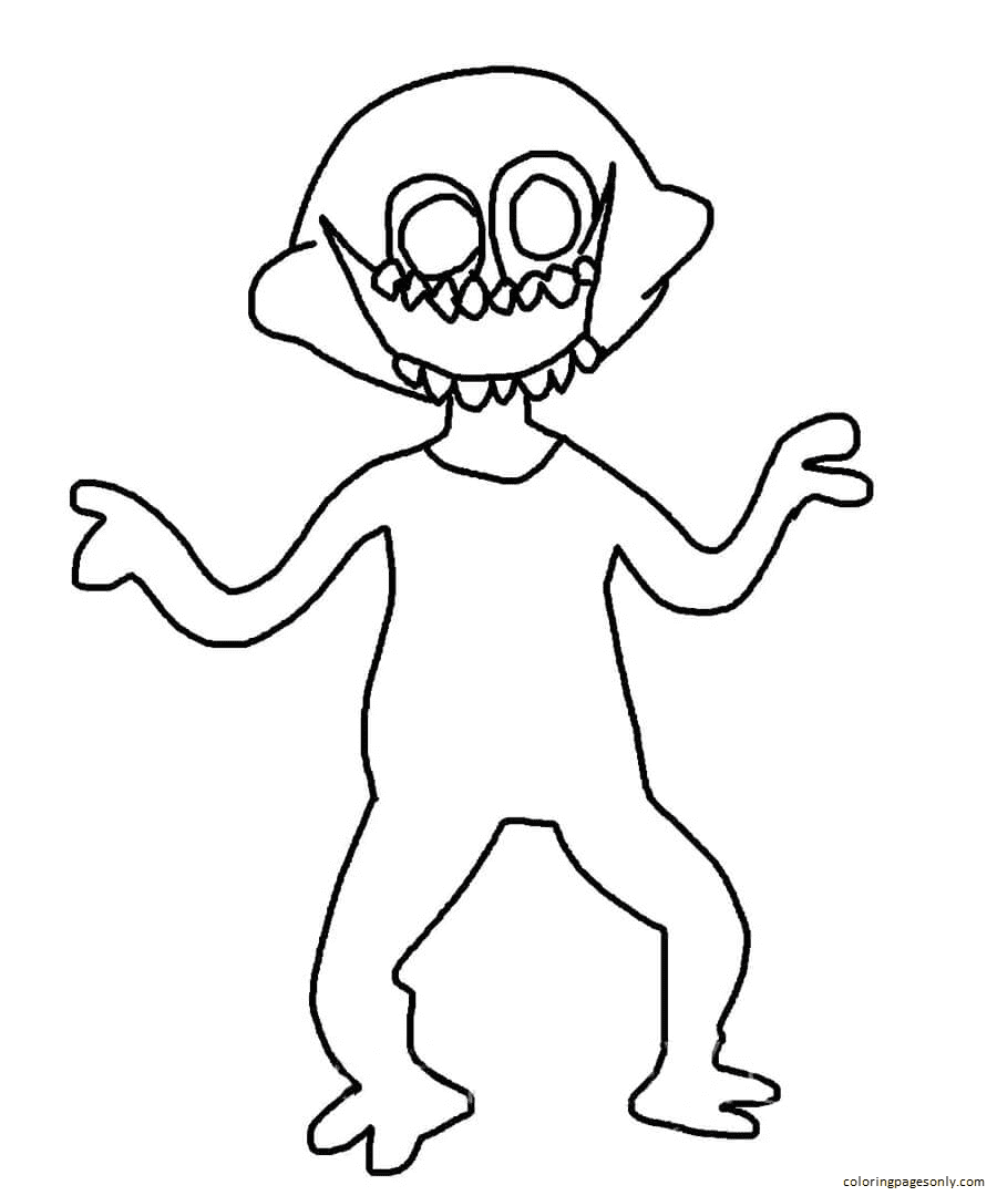 The Monsters Friday Night Funkin Coloring Page