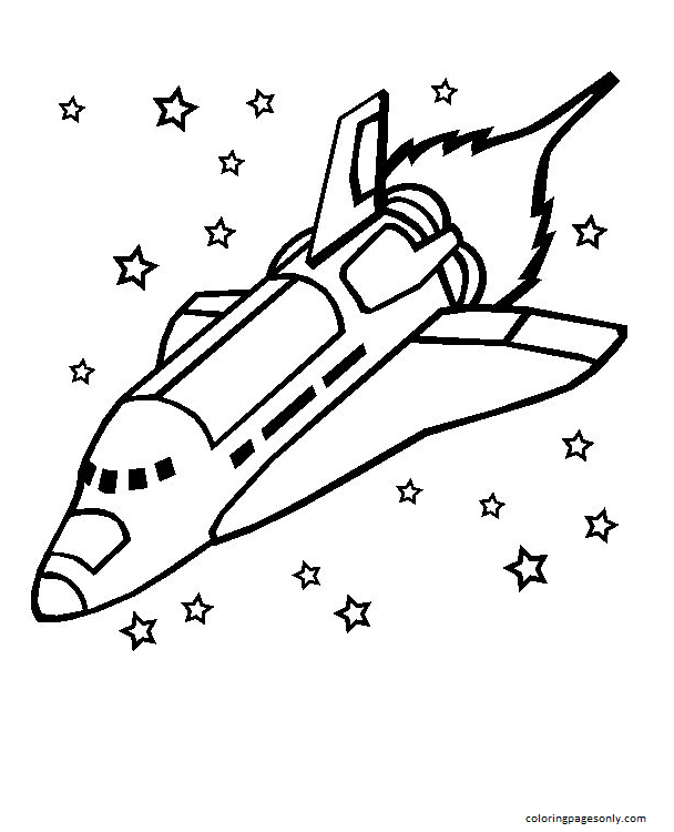 The Space Shuttle Coloring Page