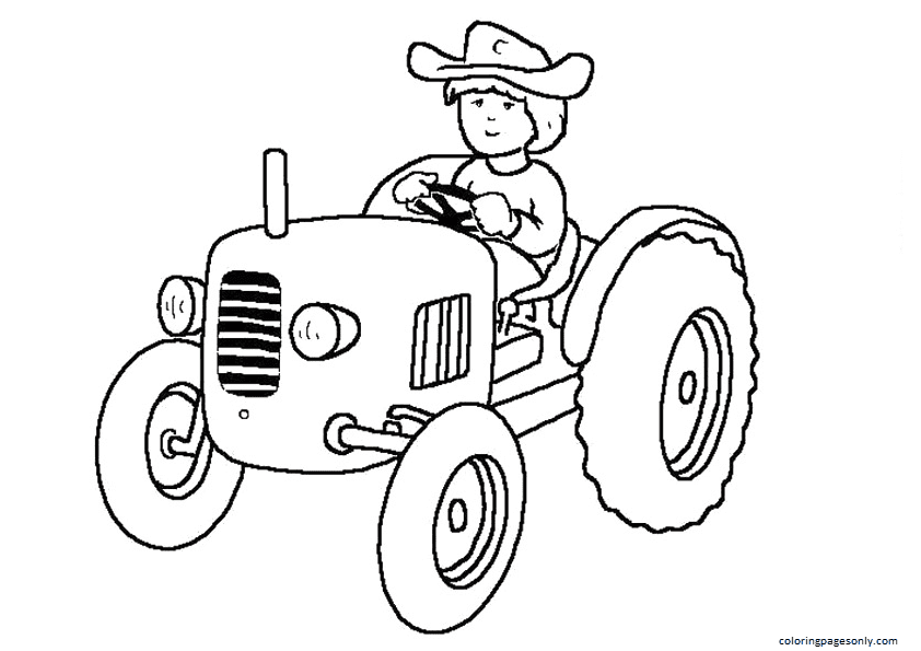 The Standalone Tractor Coloring Page