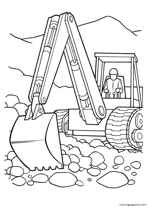 The Tractor Tom Coloring Page