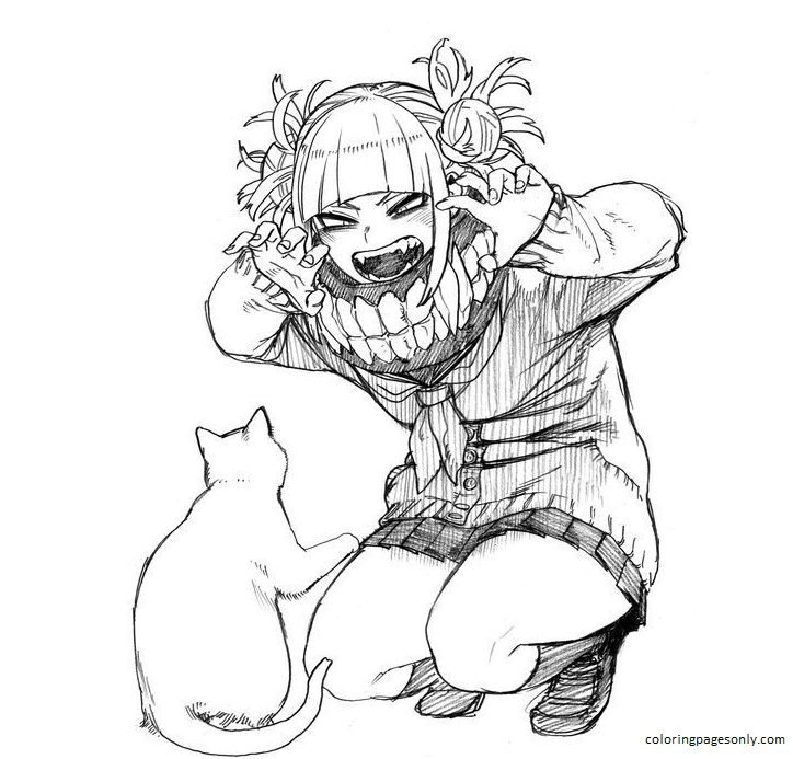 Toga Himiko Image Coloring Page