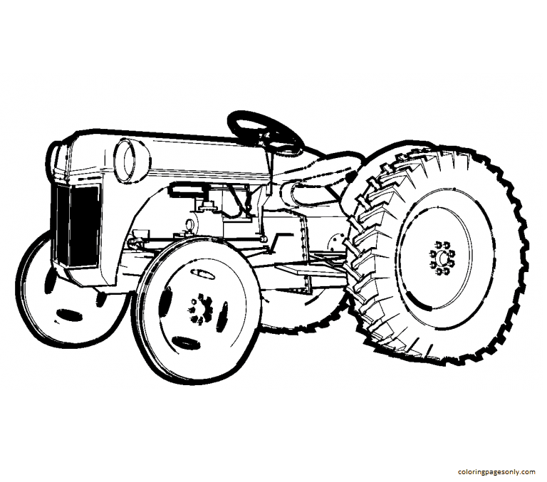 Tractor 1 Coloring Page