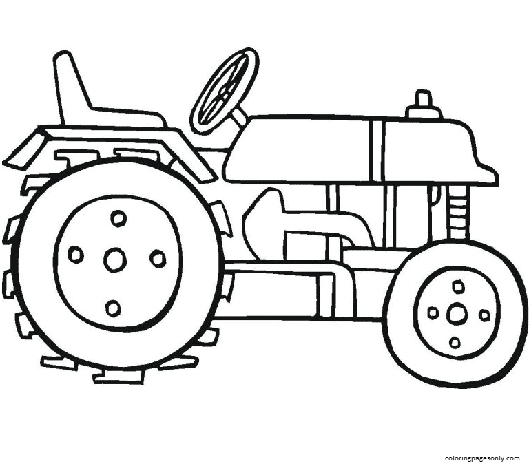 Tractor 10 Coloring Page