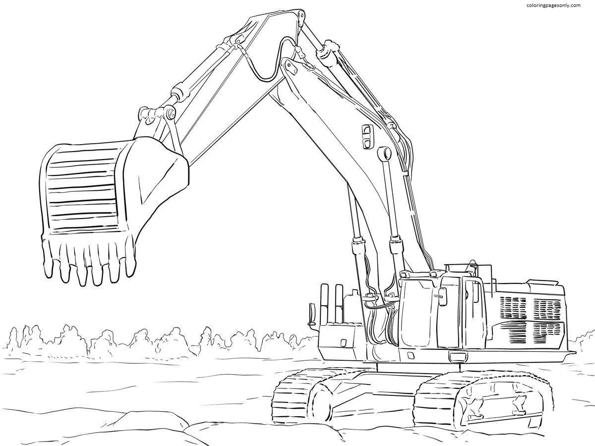 Tractor 12 Coloring Page