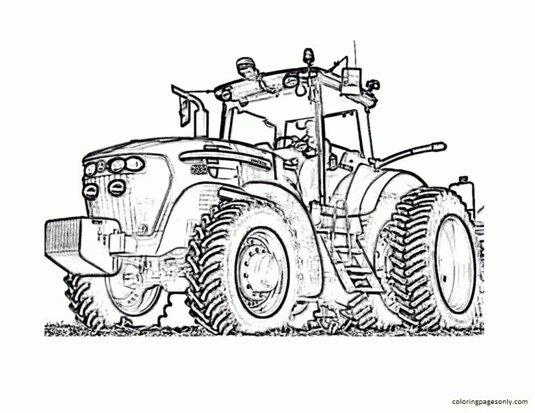 Tractor 3 Coloring Page