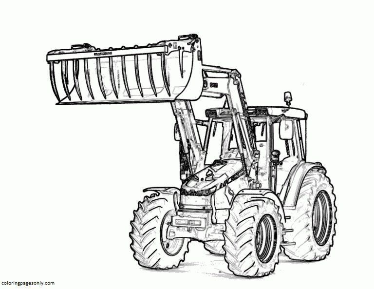 Tractor 4 Coloring Page