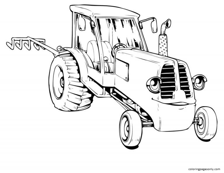 Tractor 7 Coloring Page