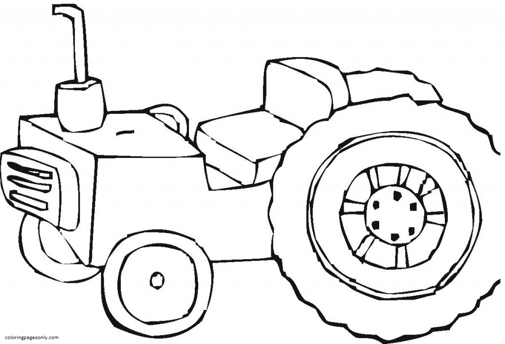 Tractor 8 Coloring Page