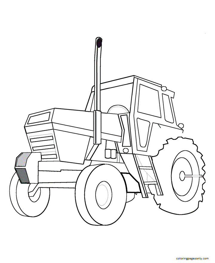 Tractor 9 Coloring Page