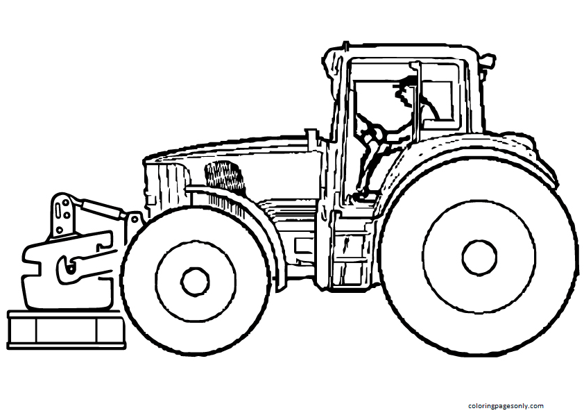 Tractor frent Coloring Page