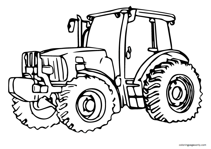 Tractor glass Coloring Page