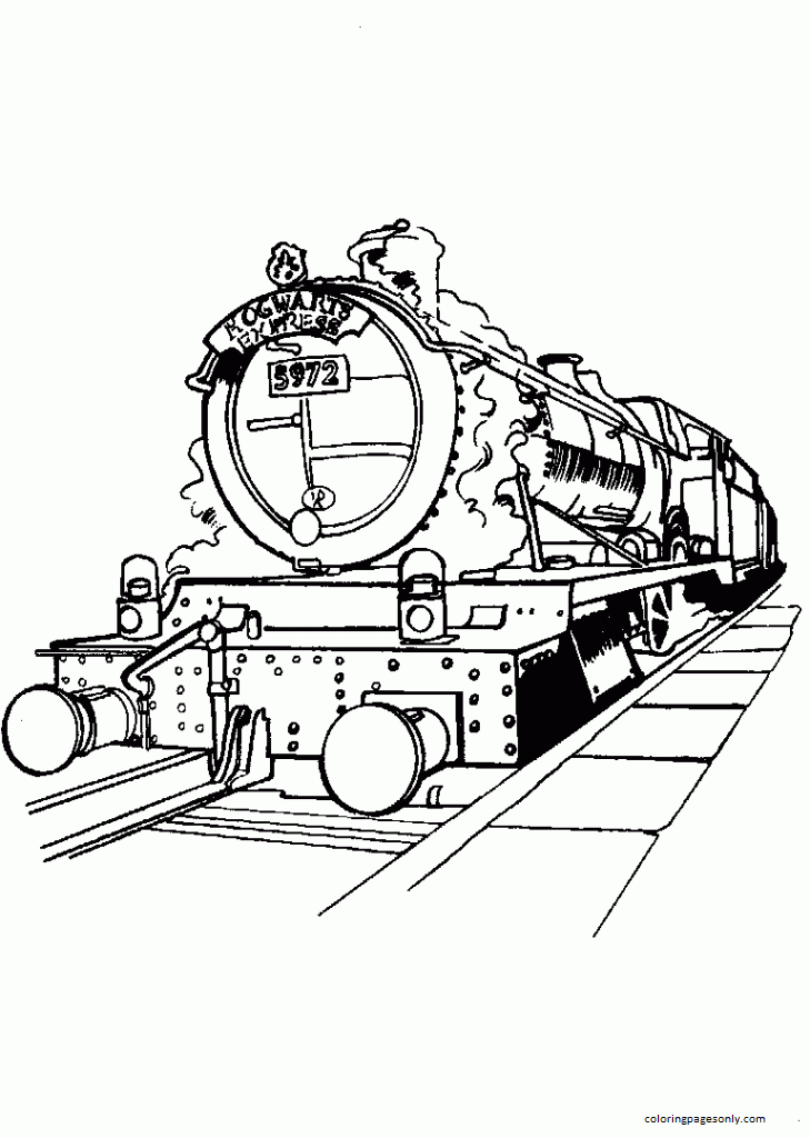 Train Of Harry Potter Coloring Page