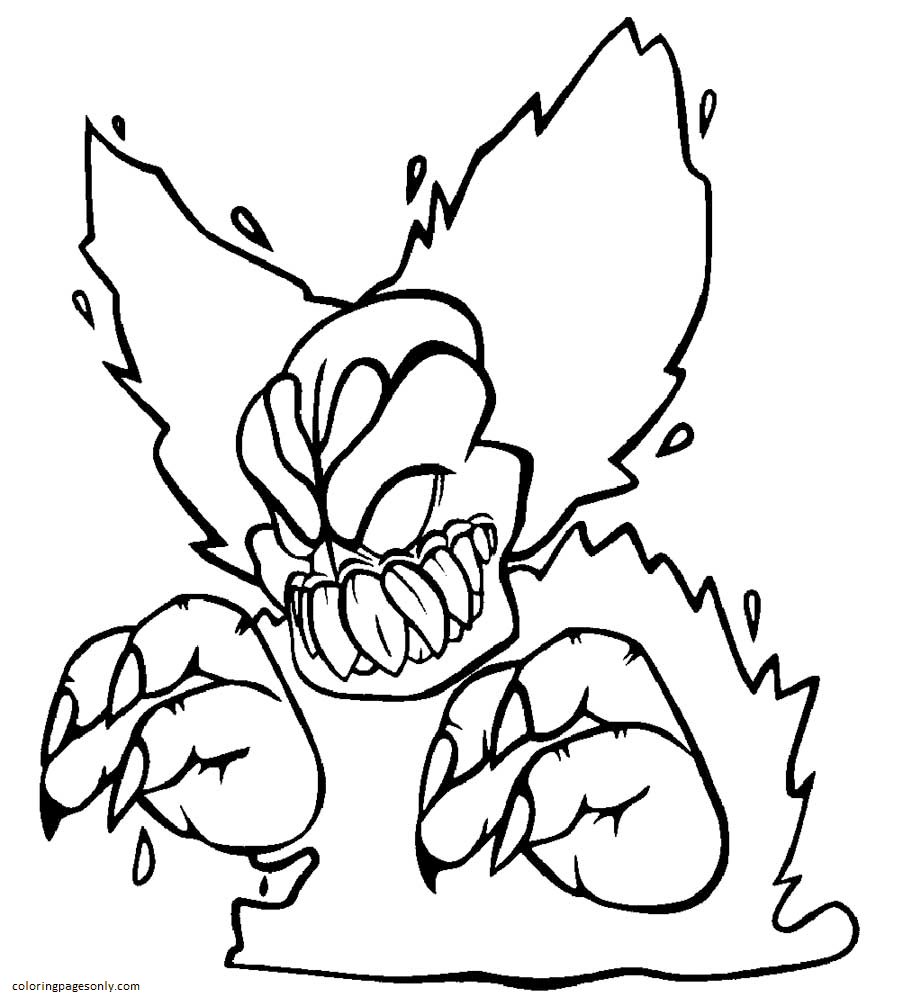 Tricky Clown Friday Night Funkin Coloring Page