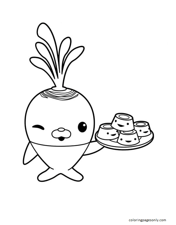 Tunip the Vegimal making kelp baked goods and cakes Coloring Page