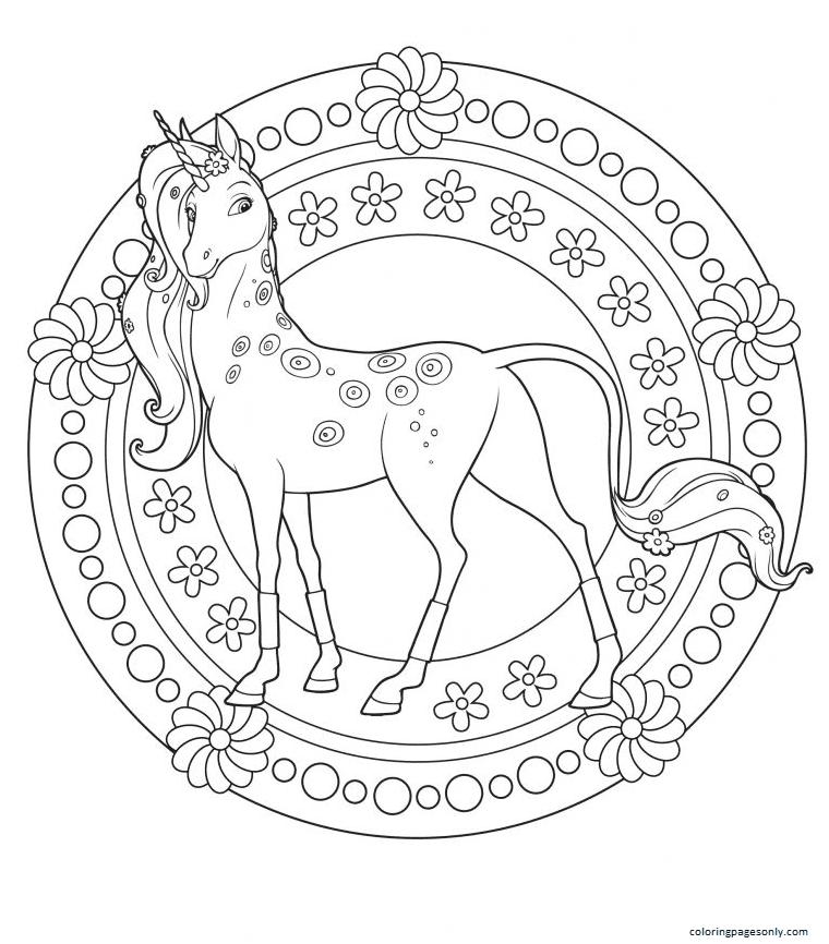 Unicorns 2 Coloring Page