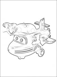 How to draw flying Flip with cap step by step Coloring Page