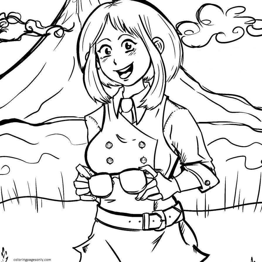 Uravity Cute Coloring Page