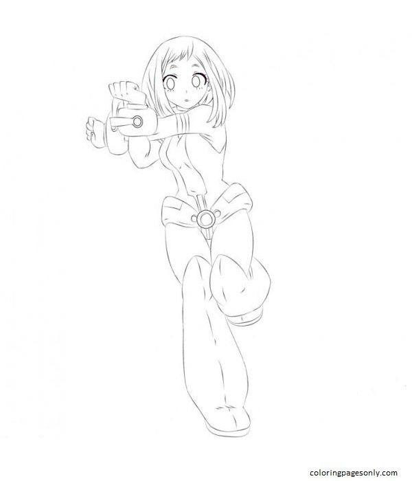 Uravity Image Coloring Page