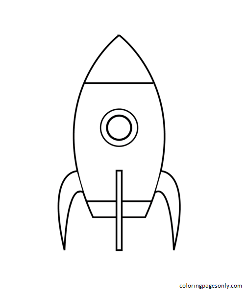 Very Simple Rocket Coloring Page