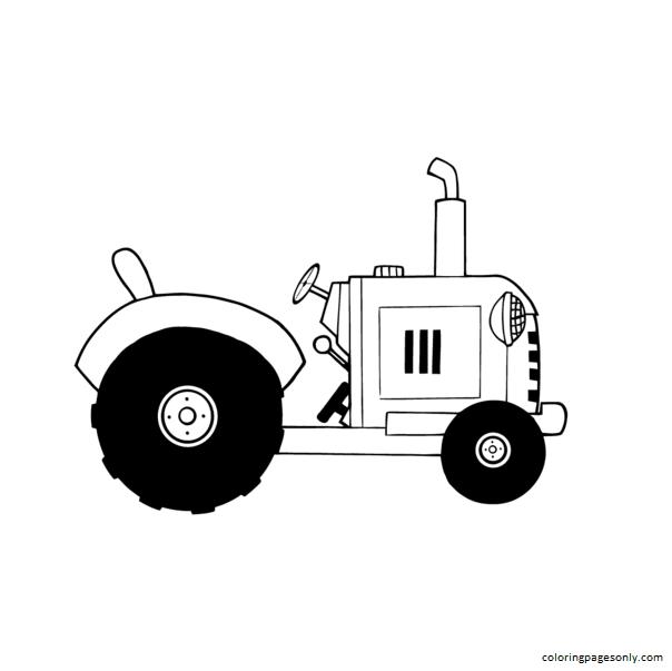 Vintage Farm Tractor Coloring Page