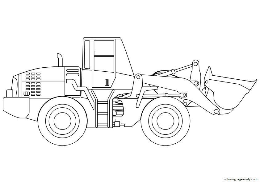 Vintage Tractor Coloring Page