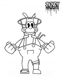 Boris and the dark revival from Bendy and the Ink Machine Coloring Page
